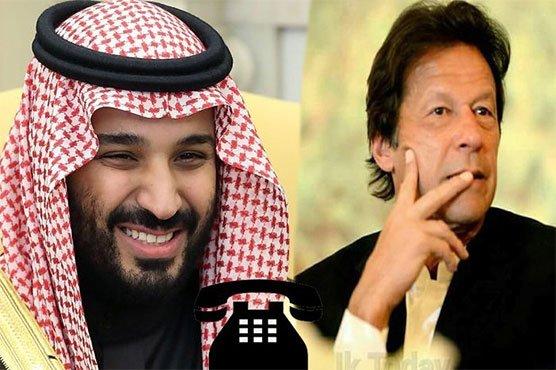 وزیراعظم کا سعودی ولی کو ایک بار پھر ٹیلی فون