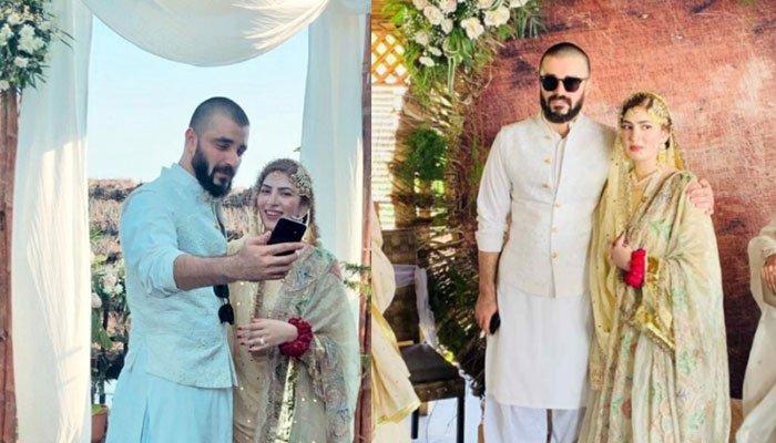 Photo of حمزہ علی عباسی اور نیمل خاور شادی