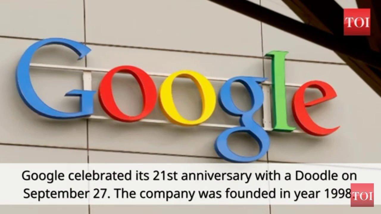 سرچ انجن گوگل نے آج اپنی 21ویں سالگرہ پر ایک نیا ڈوڈل دنیا کے ساتھ شیئر