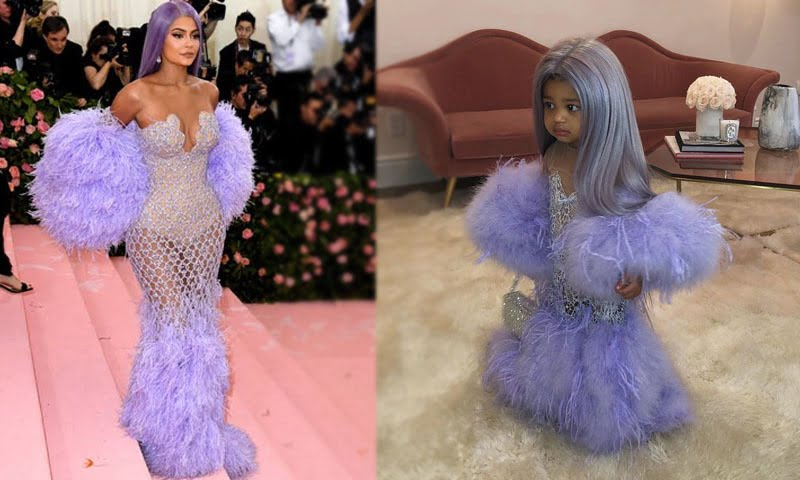 Photo of Kylie Jenner dressed daughter Stormi up as Kylie Jenner