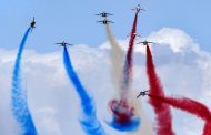 Pictorial view of beautiful air show in Dubai