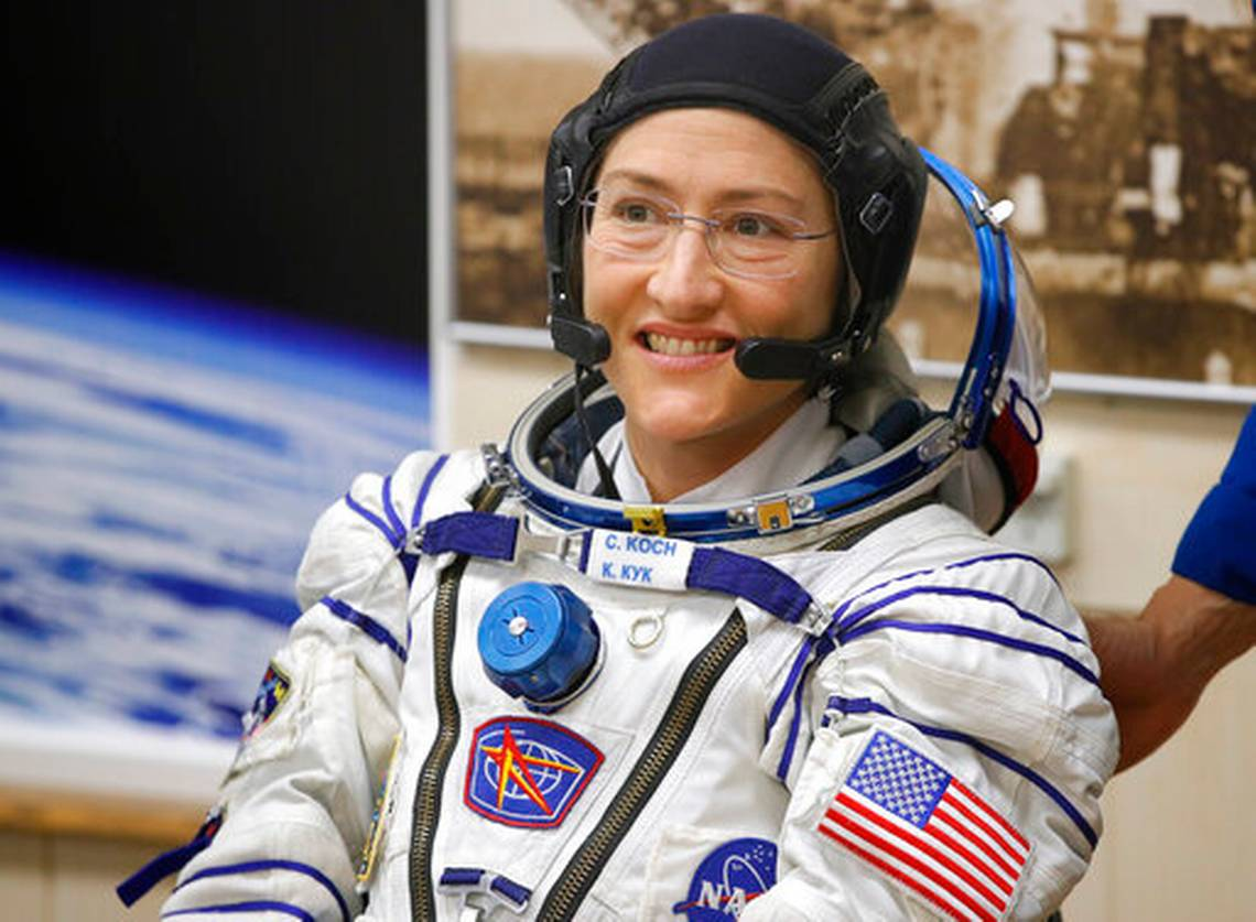 Photo of Astronaut Christina Koch sets new record for longest single space flight